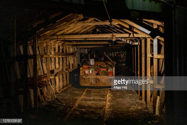 Former coal mine number 3 which is home to the Arctic World Archive stands on Svalbard archipelago on August 26 2020 in Longyearbyen Norway Svalbard...