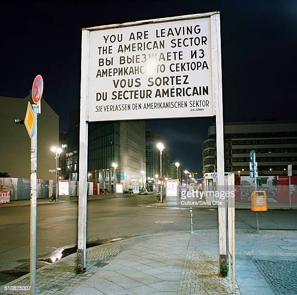 Former Cold War sign, Berlin, Germany