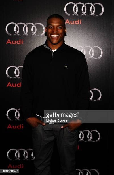 Former college football player Cam Newton attends the Super Bowl 2011 Audi Celebration at the Audi Forum Dallas on February 4, 2011 in Dallas, Texas.
