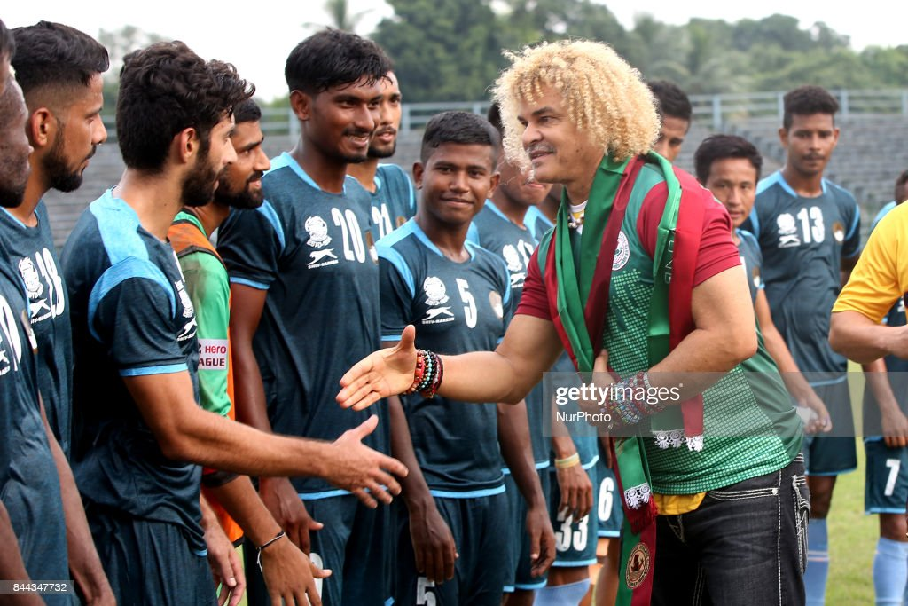Former  footballer Carlos Valderrama  visit India : News Photo
