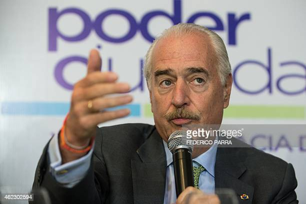 Former Colombian president Andres Pastrana speaks during a press conference within the Citizen Congress being held in Caracas on January 26 2015 AFP...