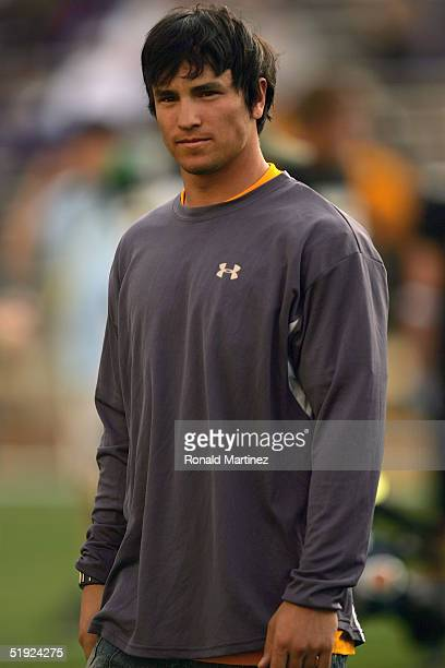 Former Colorado football player Jeremy Bloom attends of the University of Colorado Buffaloes and the Colorado State University Rams on September 4...