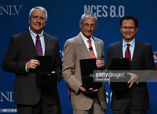 Former Colorado Gov Bill Ritter recipient of the Harry Reid Clean Energy Leadership Award former counselor to President Barack Obama John Podesta...