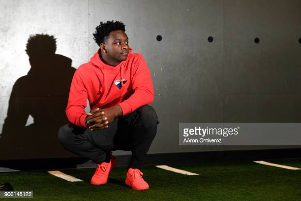 Former Colorado State University wide receiver Michael Gallup poses for a portrait on Wednesday January 17 2018 Gallup starred for the rams racking...