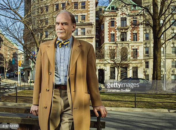 Former Columbia's Saint Anthony Hall's board president Walter Perry is photographed for Vanity Fair Magazine on April 6 2015 across the street from...