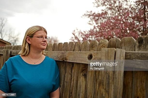 Former Columbine High School student Erin Hernandez at her home in Littleton credits Frank DeAngelis Columbine principal with saving her life April...