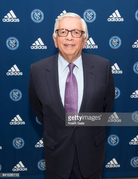 Former commissioner of the NBA, David Stern attends the NYCFC pop-up experience store VIP launch party on August 30, 2017 in New York City.