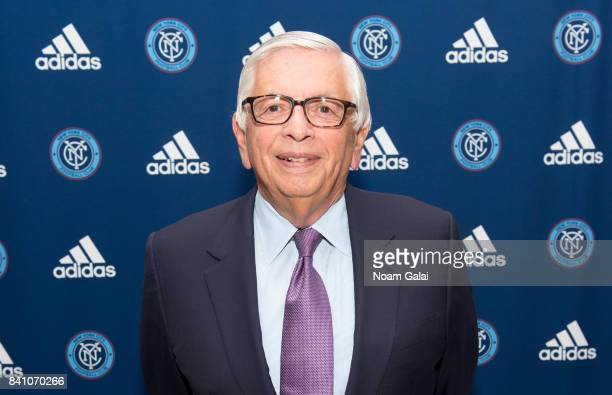 Former commissioner of the NBA David Stern attends the NYCFC popup experience store VIP launch party on August 30 2017 in New York City