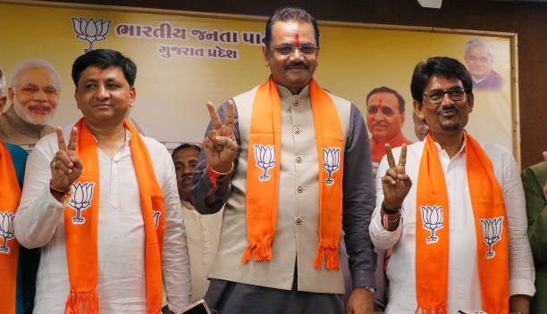 IND: Former Congress Gujarat MLA Alpesh Thakor Joins Bharatiya Janata Party