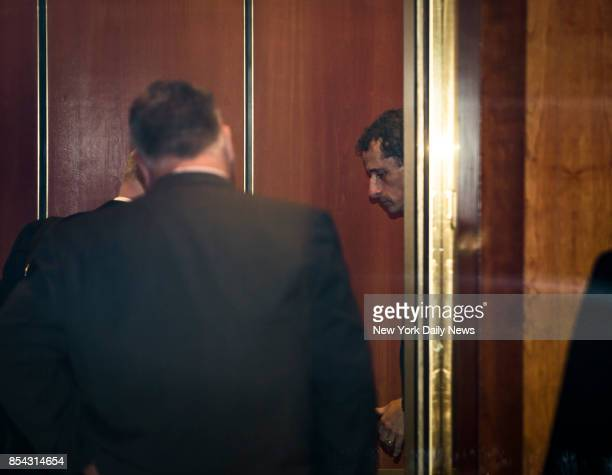 Former Congressman Anthony Weiner arrives at his home in Manhattan after he was sentenced to 21 months in prison for sexting a minor on Monday...