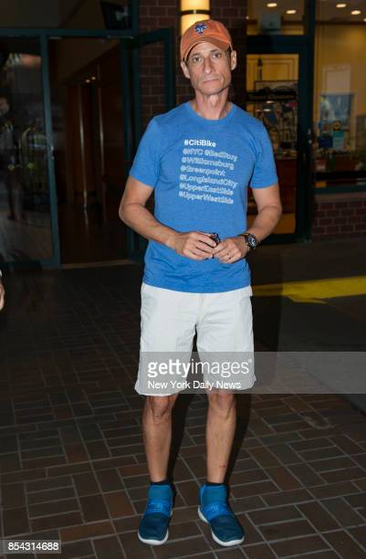 Former Congressman Anthony Weiner leaves his homei in Manhattan on Monday September 25 2017 He was sentenced to 21 months in prison for sexting a...