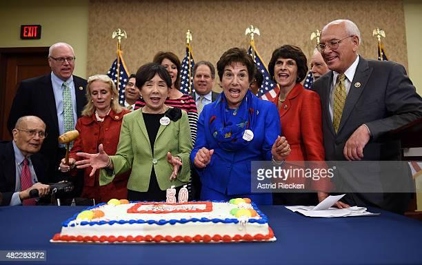 Former congressman John Dingell, Rep. Joseph Crowley , Rep. Debbie Dingell , Rep. Doris Matsui , Rep. Jan Schakowsky, Rep. Lucille Roybal-Allard ,...