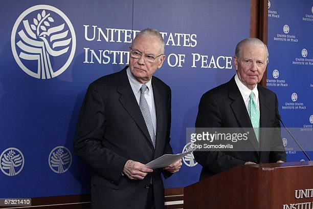 Former Congressman Lee Hamilton , director of the Woodrow Wilson International Center for Scholars, and former Secretary of State James Baker,...
