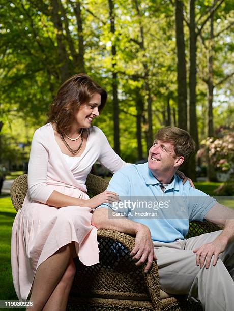 Former congressman Patrick Kennedy and fiancee Amy Petitgout are photographed for People Magazine on May 9 2011 in Absecon New Jersey