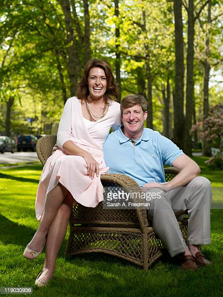 Former congressman Patrick Kennedy and fiancee Amy Petitgout are photographed for People Magazine on May 9 2011 in Absecon New Jersey Published image