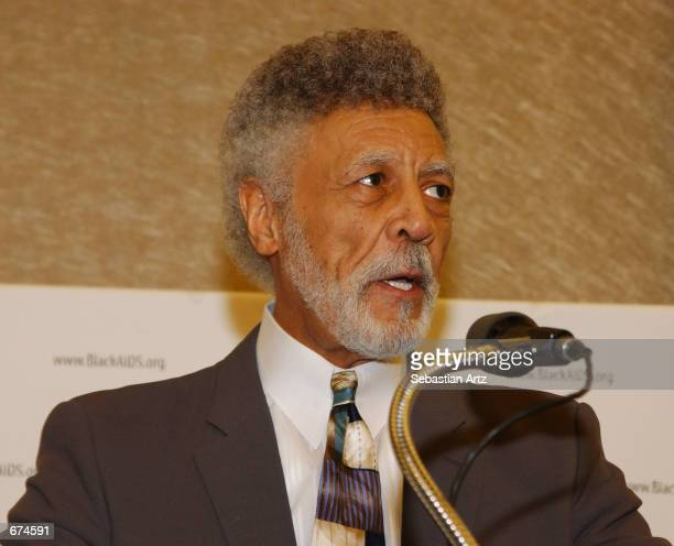 Former Congressman Ronald V Dellums speaks at World AIDS Day press conference December 01 2001 in Los Angeles CA