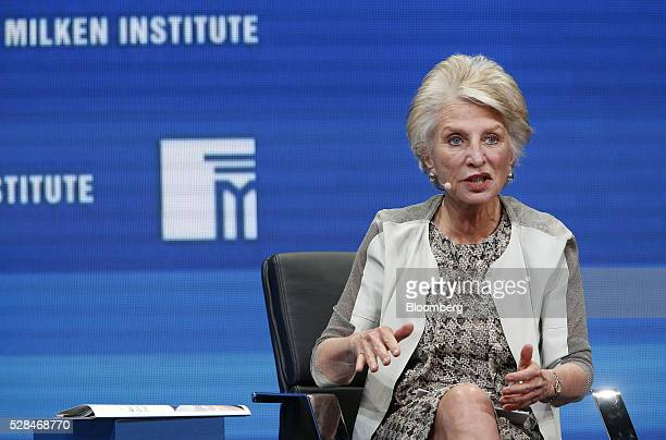 Former Congresswoman Jane Harman president and chief executive officer of the Woodrow Wilson International Center for Scholars speaks during the...