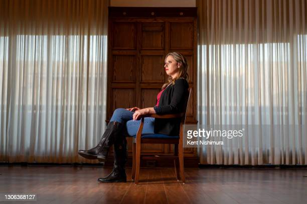 Former Congresswoman Katie Hill is photographed for Los Angeles Times on February 17, 2021 in Washington, DC. PUBLISHED IMAGE. CREDIT MUST READ: Kent...