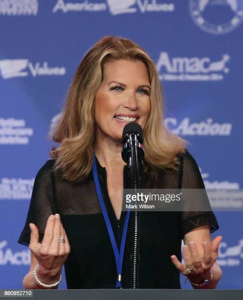 Former Congresswomen and presidential candidate Michele Bachmann speaks during the annual Family Research Council's Values Voter Summit at the Omni...