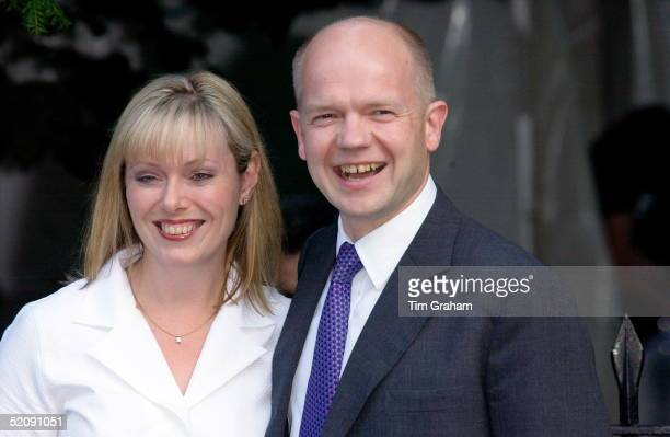 Former Conservative Leader William Hague And Wife Ffion At A Celebrity Party Hosted By Broadcaster Sir David Frost In Chelsea