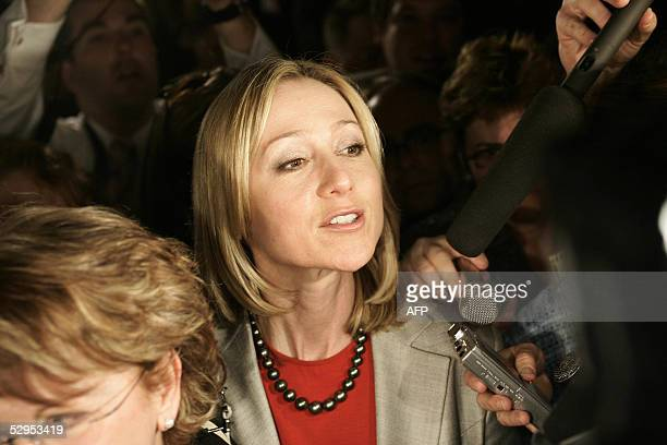 Former Conservative MP Belinda Stronach now a Liberal cabinet minister arriving at House of Commons for confidence motion in Ottawa 19 May 2005...