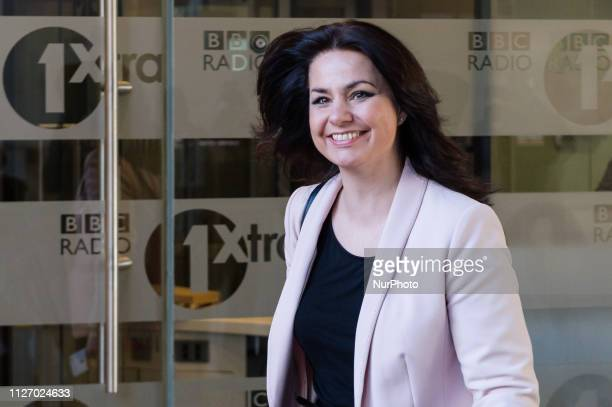 Former Conservative MP Heidi Allen who quit the party to join The Independent Group earlier this week leaves the BBC Broadcasting House in central...