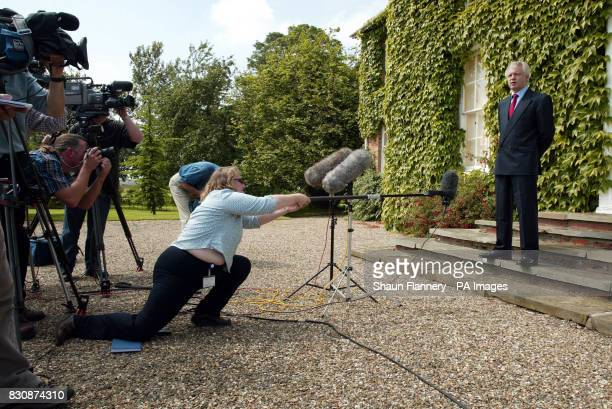 Former Conservative Party Chairman David Davis gives a press briefing at his home at Spaldington nr Howden Mr Davis who has a new post as shadow to...