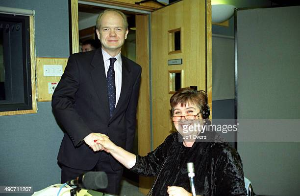 former Conservative Party leader William Hague and radio presenter Jenni Murray