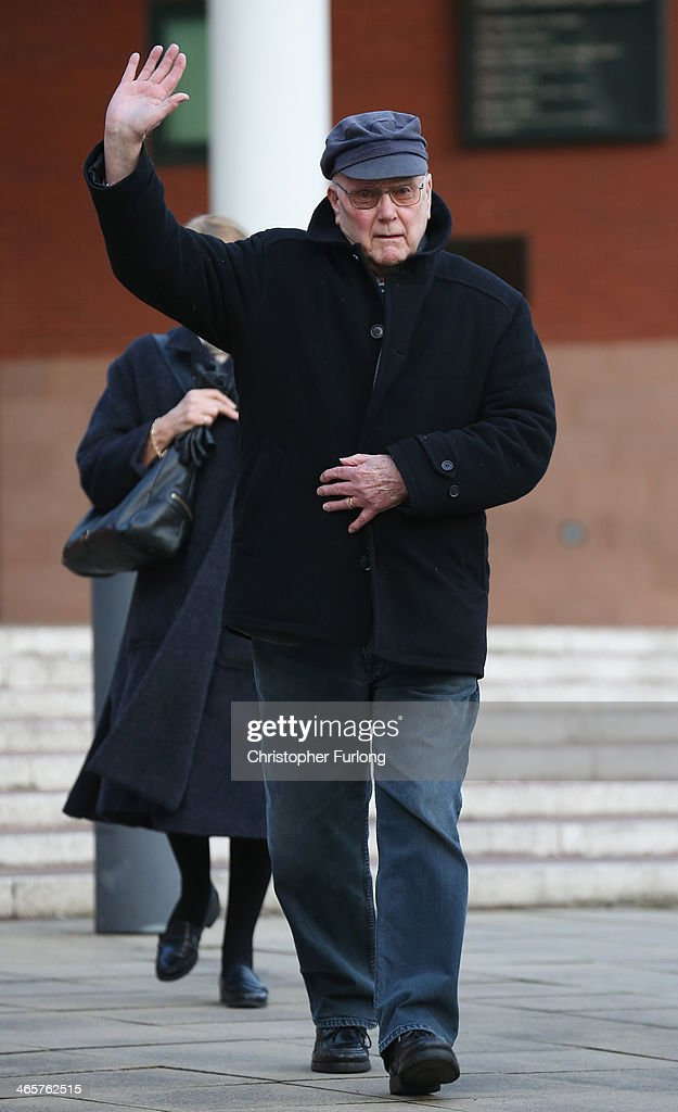 Former Coronation St actor Kenneth Cope leaves Preston Crown Court after giving evidence on the 11th day of the trial of actor William Roach on January 29, 2014 in Preston, Lancashire. The Coronation Street star, who plays the character Ken Barlow on the ITV soap, is charged with two rape and four indecent assault allegations which relate to incidents between 1965 and 1971.