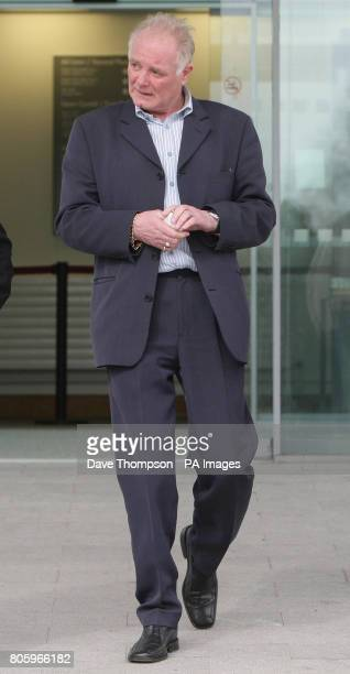 Former Coronation Street actor Bruce Jones leaves Mold Crown Court where he pleaded guilty to dangerous driving