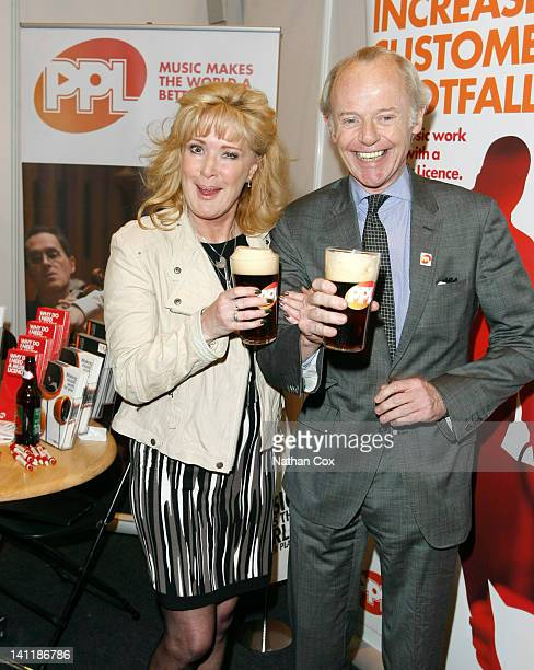 Former Coronation Street landlady Beverley Callardand Jonathan Moorish of music licensing company PPL at the Northern Restaurant and Bar Show at...