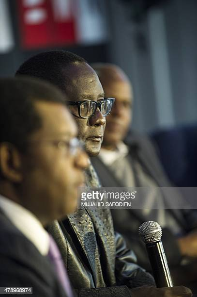 Former Cosatu General Secretary Zwelinzima Vavi speaks during a panel discussion on a longawaited report of the Farlam Commission of Inquiry which...