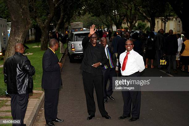 Former COSATU secretary general Zwelinzima Vavi outside the Mandela Houghton home on December 7 in Johannesburg South Africa The Father of the Nation...