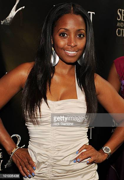 Former Cosby show cast member Keshia Knight Pulliam attend The Moet Chandon's Sex and the City 2 Private Screening at Wooduff Arts Center on May 26...