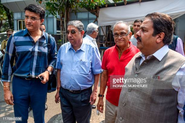 Former cricket captain Sourav Ganguly , former Board of Control for Cricket in India president N. Srinivasan and former BCCI secretary Niranjan Shah...