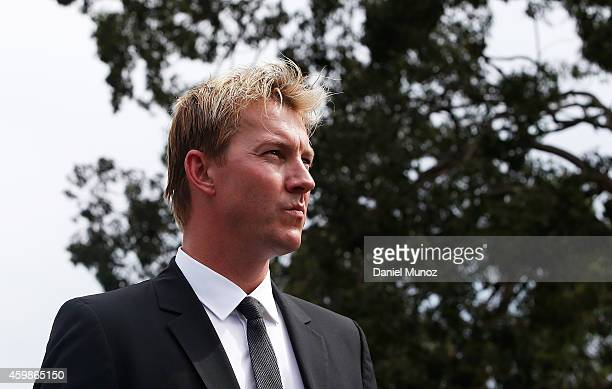 Former cricket player Brett Lee walks at the procession during the Funeral Service for Phillip Hughes on December 3, 2014 in Macksville, Australia....