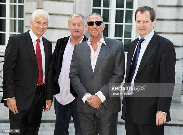 Former cricketer David Gower presenter Chris Tarrant former cricketer Sir Ian Botham and journalist Alastair Campbell attend the World Premiere of...
