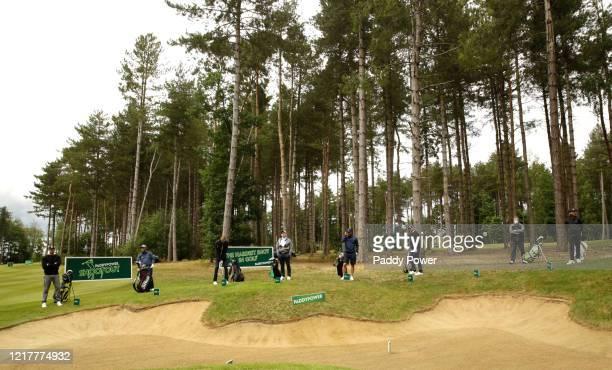 Former cricketer Freddie Flintoff, professional golfer Andrew Johnston, former footballer Peter Crouch, professional golfer Paul McGinley, former...