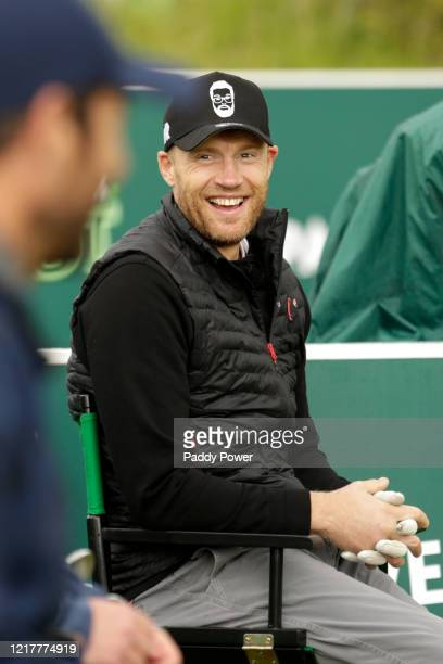 Former Cricketer Freddie Flintoff smiles as he takes part in the Paddypower Pro-Am Golf Shootout on June 5, 2020 in St Albans, United Kingdom.