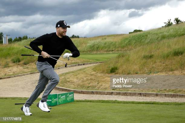 Former Cricketer Freddie Flintoff takes part in the Paddypower Pro-Am Golf Shootout on June 5, 2020 in St Albans, United Kingdom.