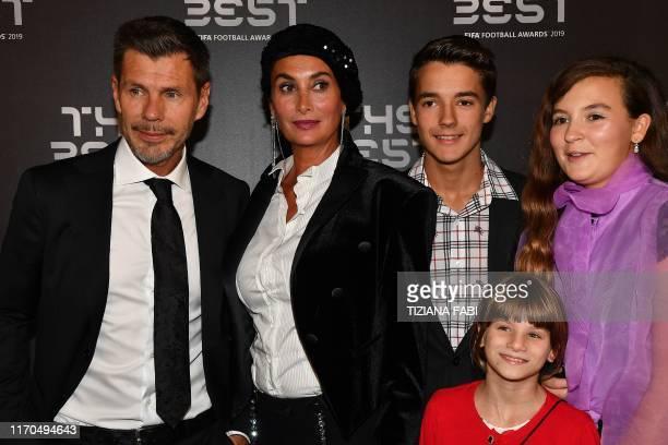 Former Croatian midfielder Zvonimir Boban , his wife Leonarda Boban and their children Marta, Marija and Rafael arrive for The Best FIFA Football...