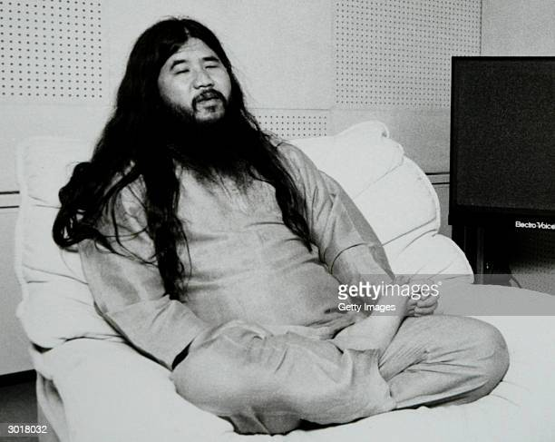 PHOTO Former cult leader Shoko Asahara accused of masterminding the 1995 Sarin gas attack on Tokyo's subway in which 12 people died and a further...