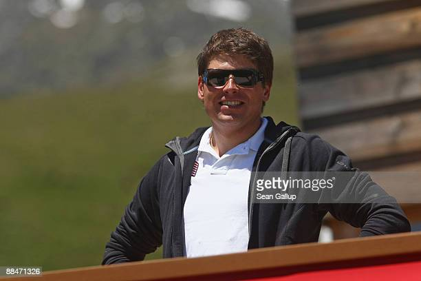 Former cycling star Jan Ullrich attends the wedding brunch reception of newlyweds Boris Becker and Sharlely Becker at the El Paradiso mountain...