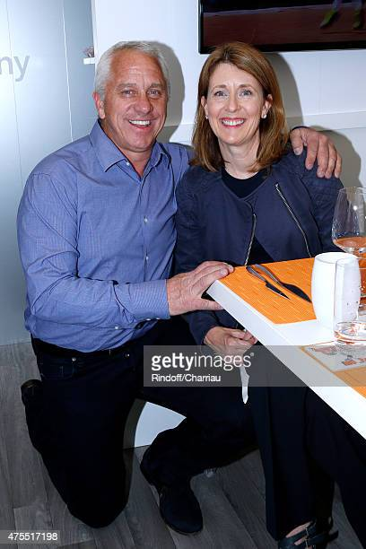Former cyclist Greg LeMond and his wife Kathy attend the 2015 Roland Garros French Tennis Open - Day Nine on June 1, 2015 in Paris, France.