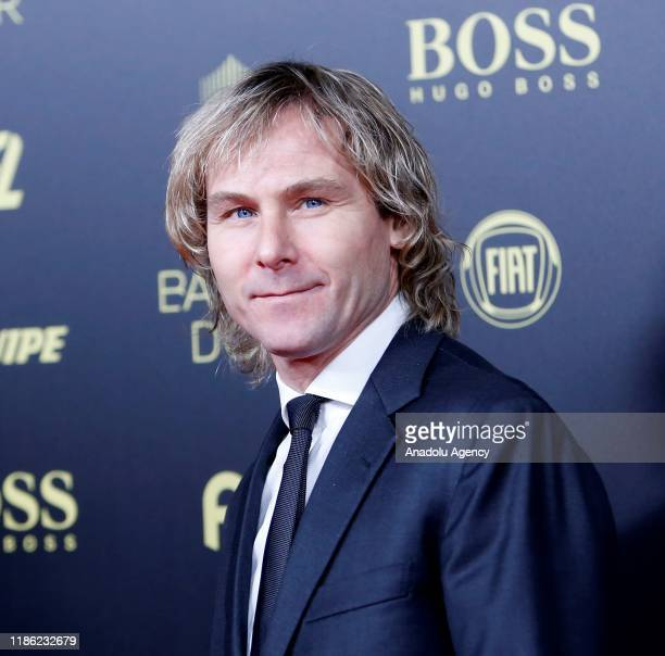 Former Czech soccer player Pavel Nedved arrives to attends for the Ballon d'Or ceremony at Theatre du Chatelet in Paris on December 02 2019
