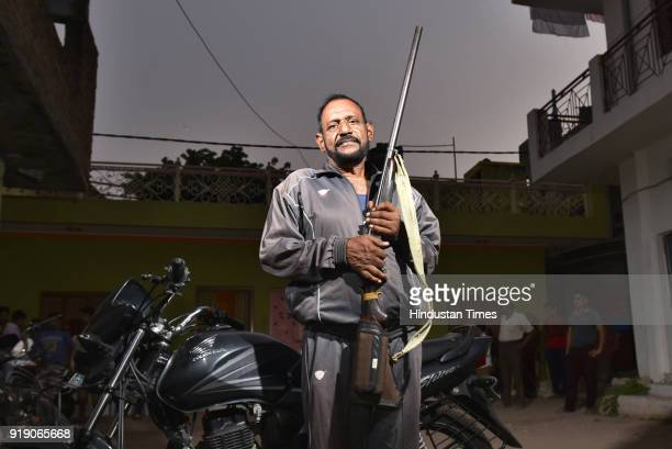 Former dacoit Balwant Singh Tomar poses for a portrait on November 5 2017 in Gwalior India While Paan Singh was killed in a police encounter in 1981...