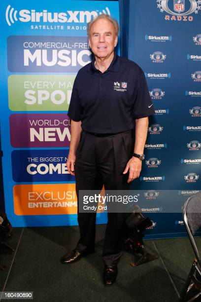 Former Dallas Cowboys quarterback Roger Staubach attends SiriusXM's Live Broadcast from Radio Row during Bowl XLVII week on February 1 2013 in New...