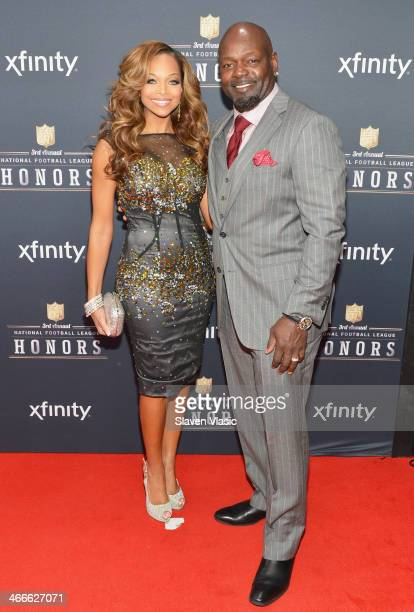 Former Dallas Cowboys running back Emmitt Smith and guest attend the 3rd Annual NFL Honors at Radio City Music Hall on February 1 2014 in New York...