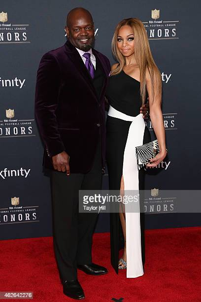 Former Dallas Cowboys running back Emmitt Smith and Patricia Southall attend the 2015 NFL Honors at Phoenix Convention Center on January 31 2015 in...