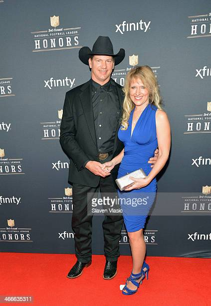 Former Dallas Cowboys tight end Jay Novacek and guest attend the 3rd Annual NFL Honors at Radio City Music Hall on February 1 2014 in New York City